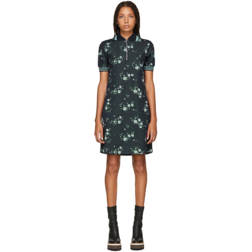 ケンゾー Kenzo レディース ワンピース・ドレス ワンピース【Navy Floral Zip Polo Dress】