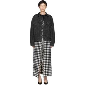 バレンシアガ Balenciaga レディース アウター ジャケット【Black Fringes Blanket Denim Jacket】