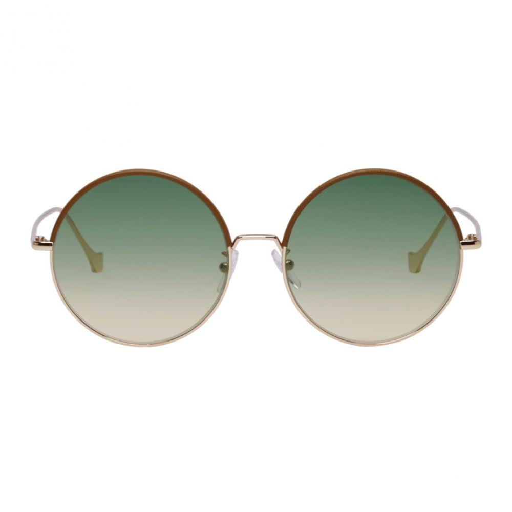 ロエベ Loewe レディース メガネ・サングラス【Brown & Gold Round Sunglasses】