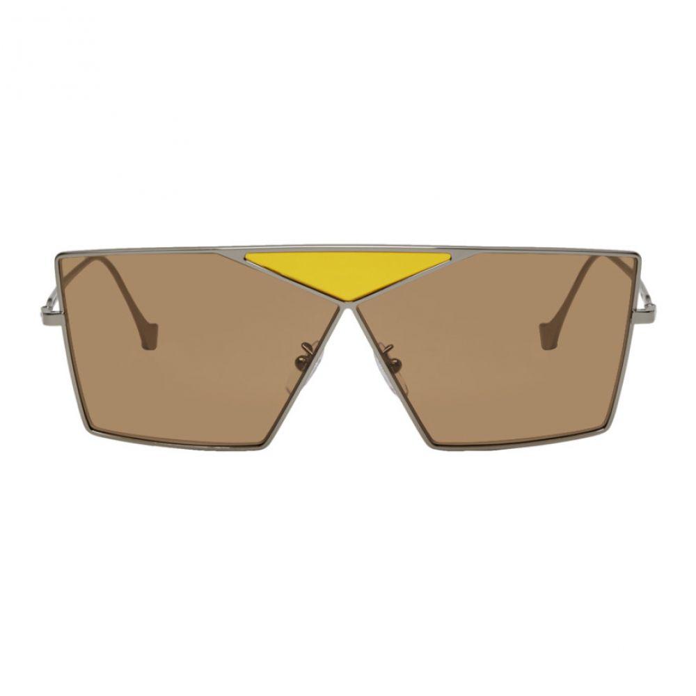 ロエベ Loewe レディース メガネ・サングラス【Brown Square Puzzle Sunglasses】