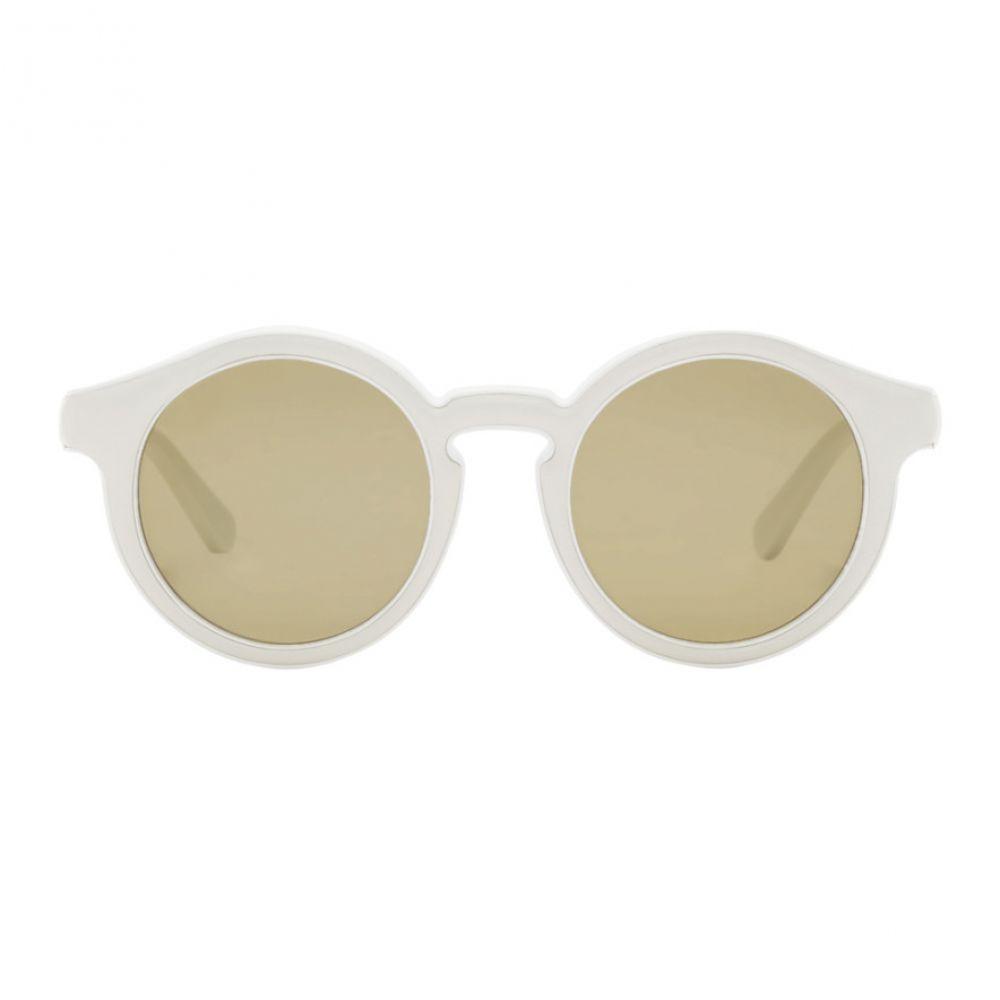 ロエベ Loewe メンズ メガネ・サングラス【White Round Padded Sunglasses】