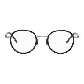 マツダ Matsuda メンズ メガネ・サングラス【Black & Silver M3076 Brushed Glasses】
