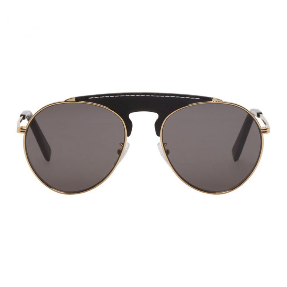 ロエベ Loewe メンズ メガネ・サングラス【Black & Gold Pilot Sunglasses】