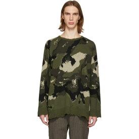 ヴァレンティノ Valentino メンズ トップス ニット・セーター【Green Camo Sweater】