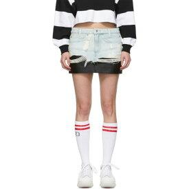 アレキサンダー ワン Alexander Wang レディース スカート ミニスカート【Blue Denim & Leather Hybrid Miniskirt】