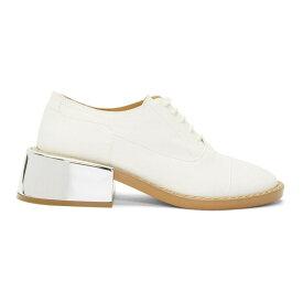 メゾン マルジェラ MM6 Maison Margiela レディース シューズ・靴 ローファー・オックスフォード【SSENSE Exclusive White Metal Heel Derbys】