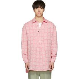 J.W.アンダーソン JW Anderson メンズ トップス シャツ【Pink Linen Grid Tunic Shirt】