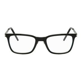 イヴ サンローラン Saint Laurent メンズ メガネ・サングラス【Black Rounded Square Glasses】