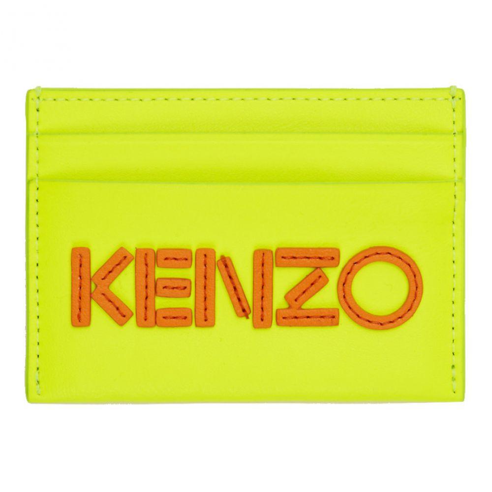 ケンゾー Kenzo メンズ カードケース・名刺入れ【Yellow Logo Card Holder】