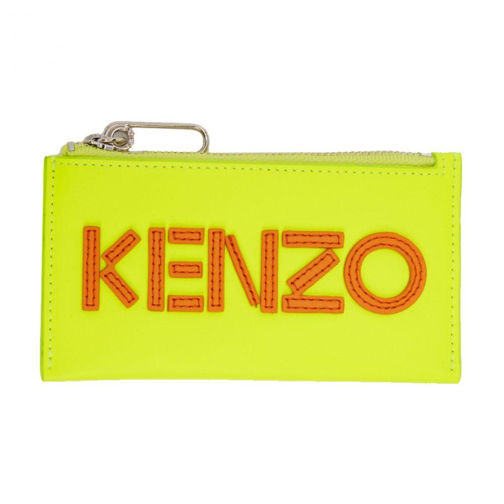 ケンゾー Kenzo メンズ カードケース・名刺入れ【Yellow Logo Zip Card Holder】