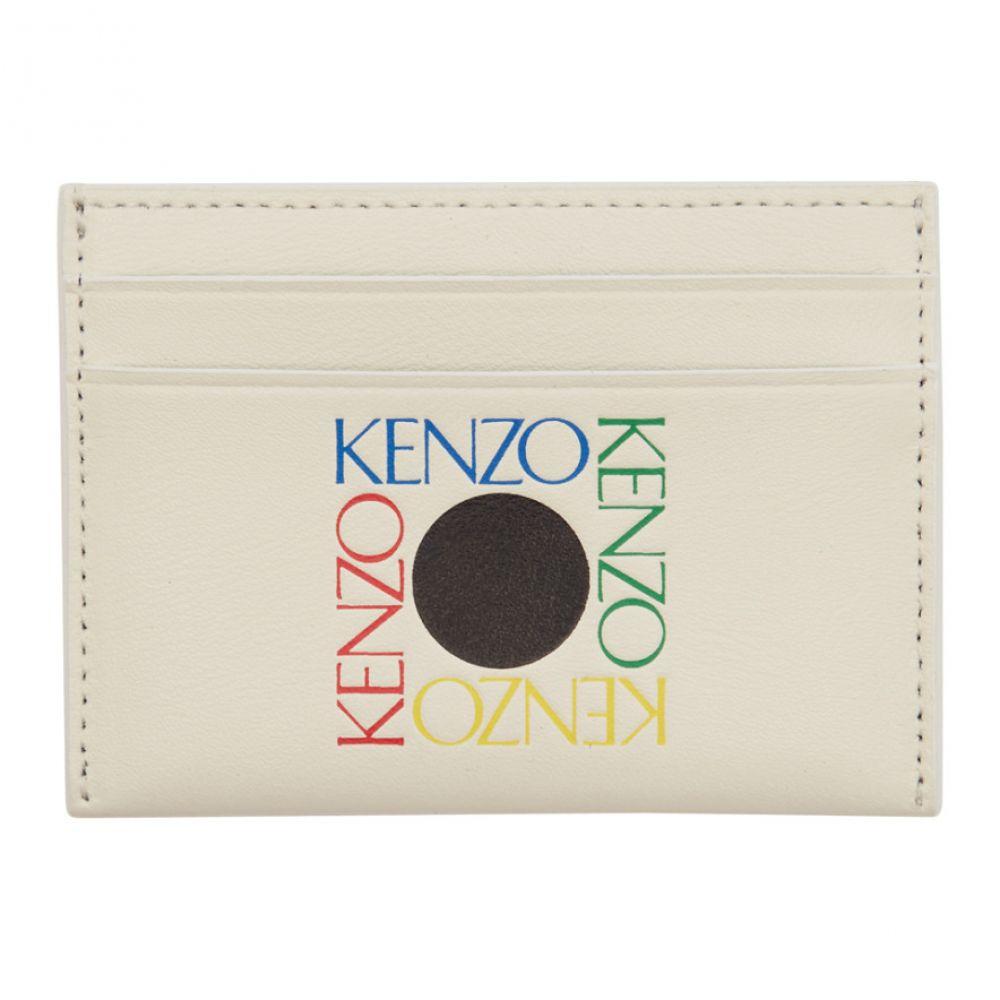 ケンゾー Kenzo メンズ カードケース・名刺入れ【White Square Logo Card Holder】