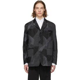 コム デ ギャルソン Comme des Garcons Homme メンズ アウター スーツ・ジャケット【Black & Grey Camo Blazer】