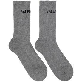 バレンシアガ Balenciaga メンズ インナー・下着 ソックス【Grey Logo Tennis Socks】