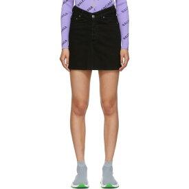 バレンシアガ Balenciaga レディース スカート ミニスカート【Black Denim High Waisted Miniskirt】