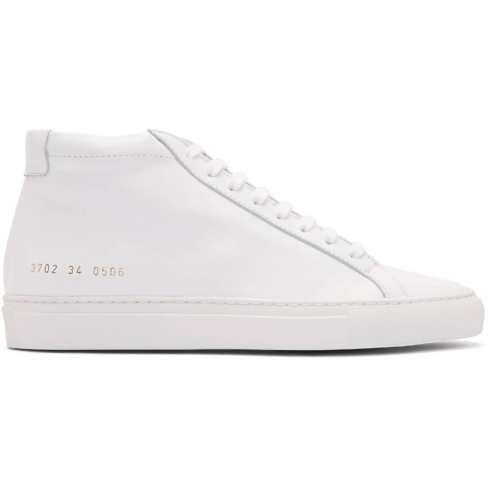 コモン プロジェクト レディース シューズ・靴 スニーカー【White Original Achilles Mid Sneakers】