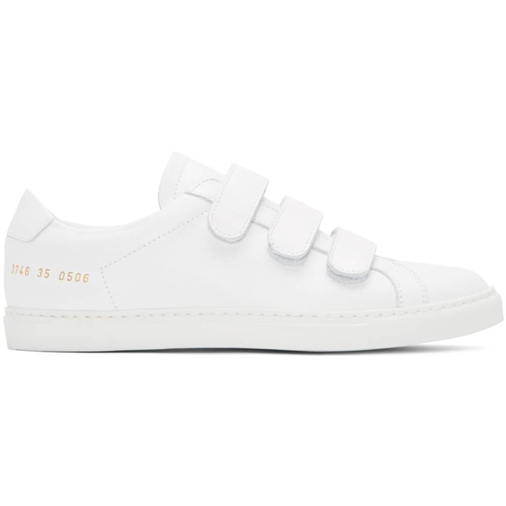 コモン プロジェクト レディース シューズ・靴 スニーカー【White Achilles Three Strap Sneakers】