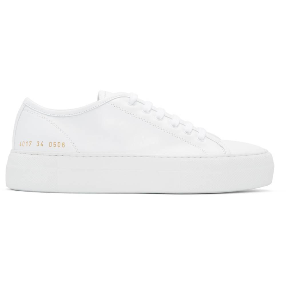 コモン プロジェクト レディース シューズ・靴 スニーカー【White Tournament Low Super Sneakers】