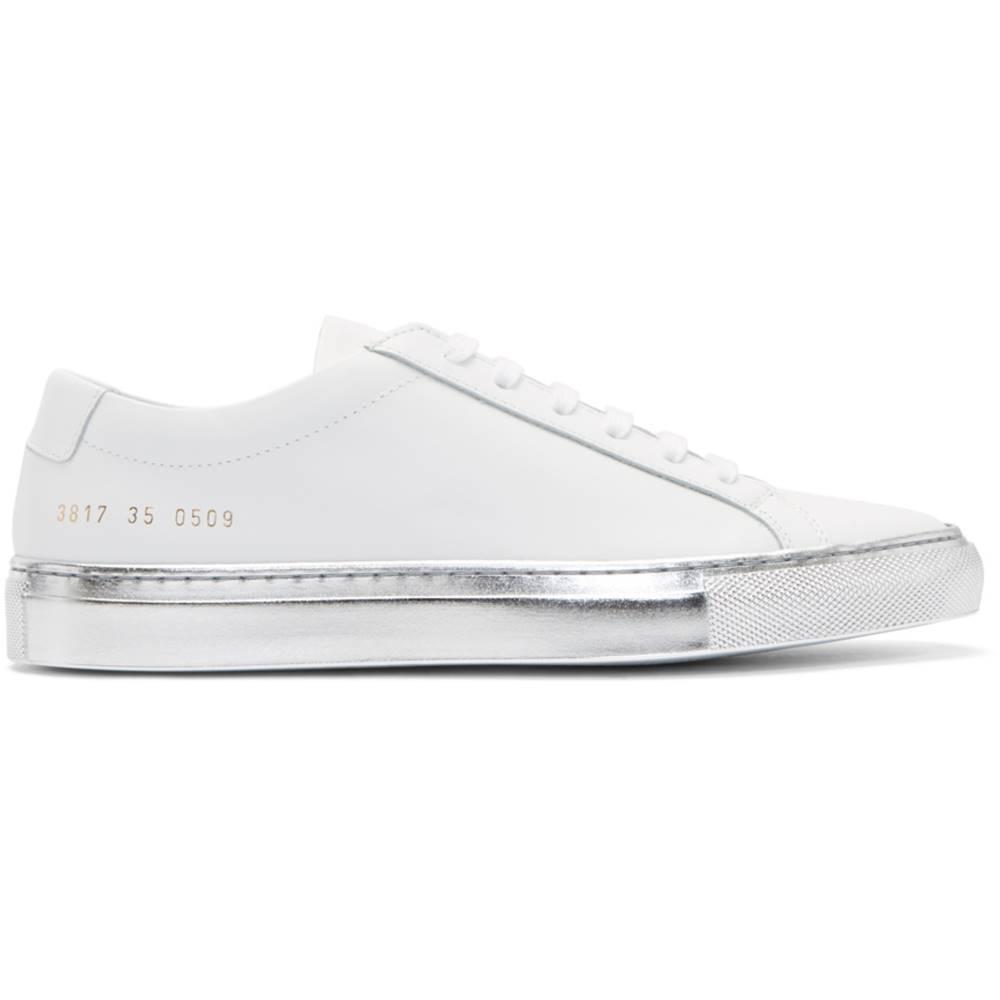 コモン プロジェクト レディース シューズ・靴 スニーカー【White & Silver Achilles Low Color Block Sole Sneakers】