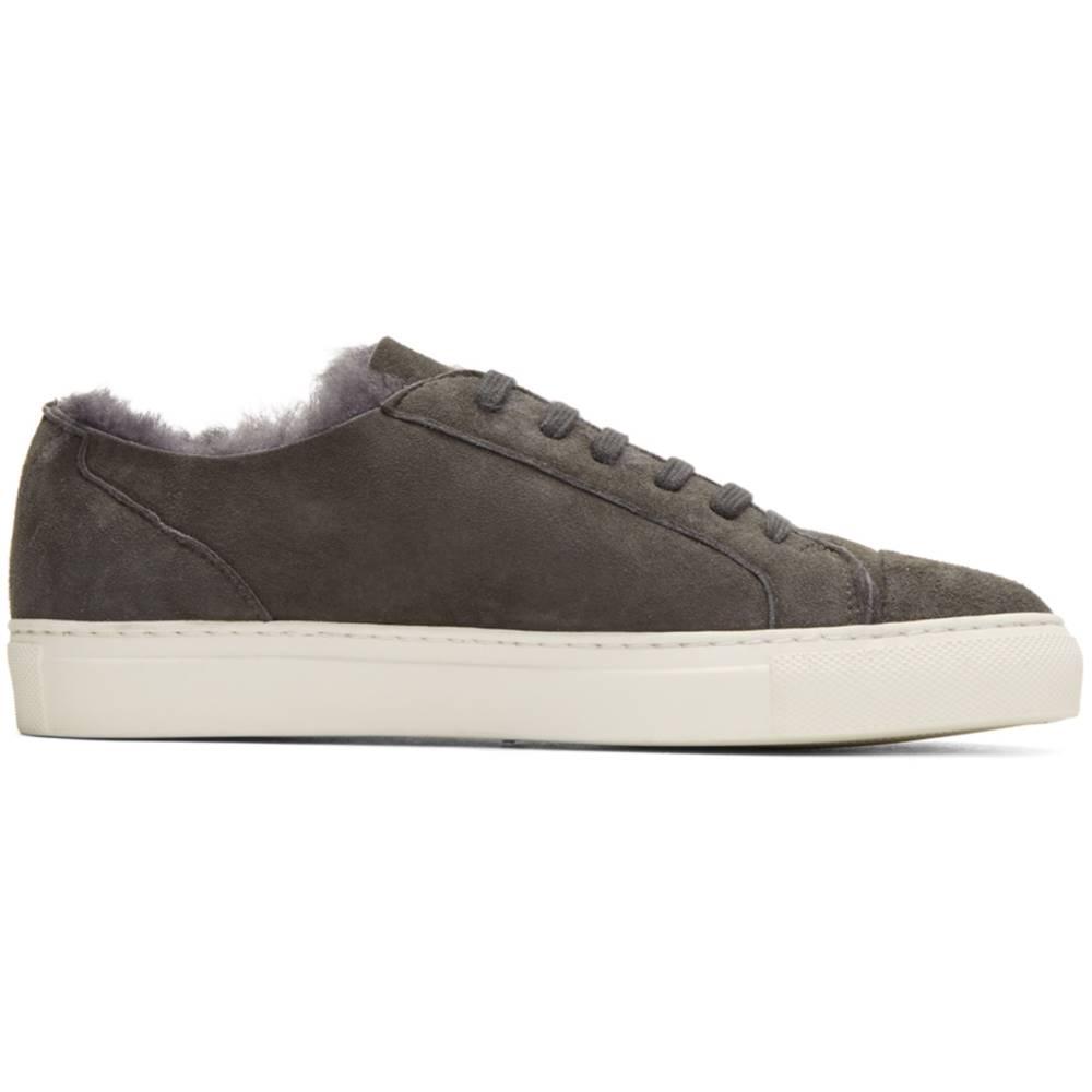 コモン プロジェクト レディース シューズ・靴 スニーカー【Grey Shearling Tournament Low Sneakers】