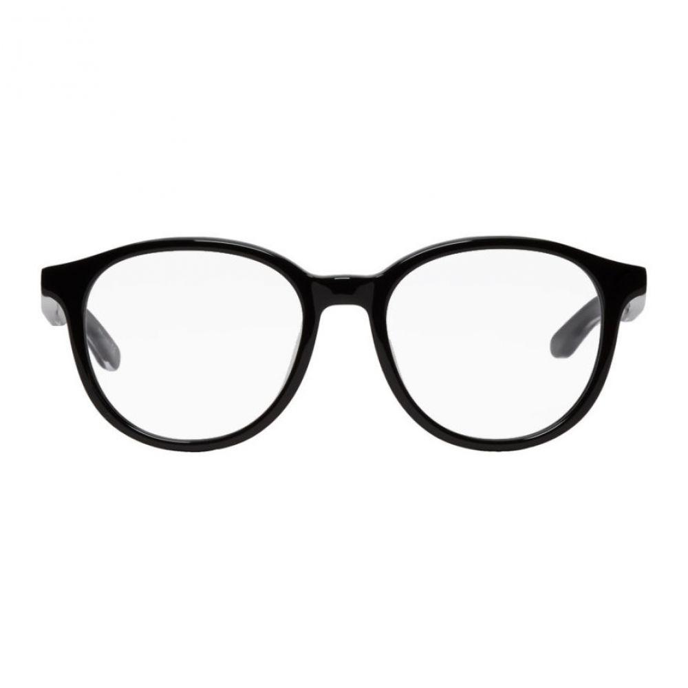 バレンシアガ Balenciaga メンズ メガネ・サングラス【Black Shiny Round Glasses】