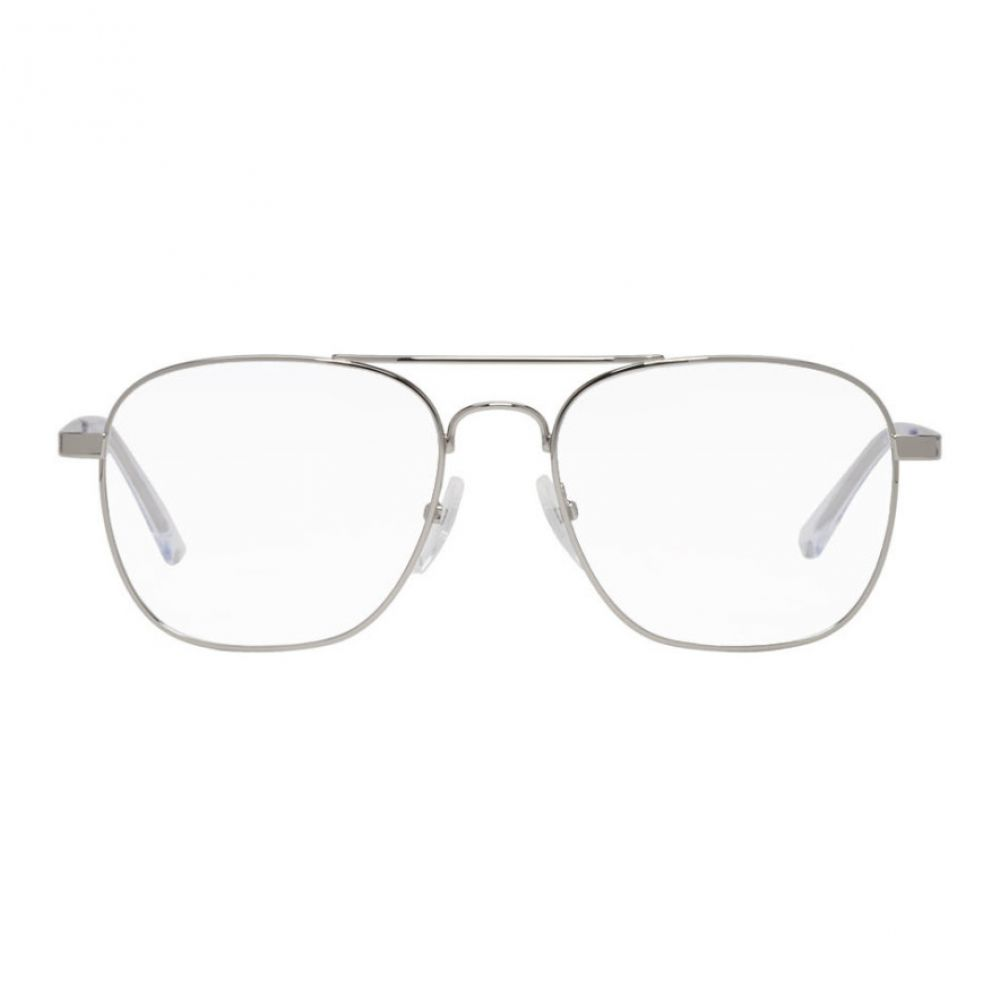 バレンシアガ Balenciaga メンズ メガネ・サングラス【Silver Shiny Ruthenium Glasses】
