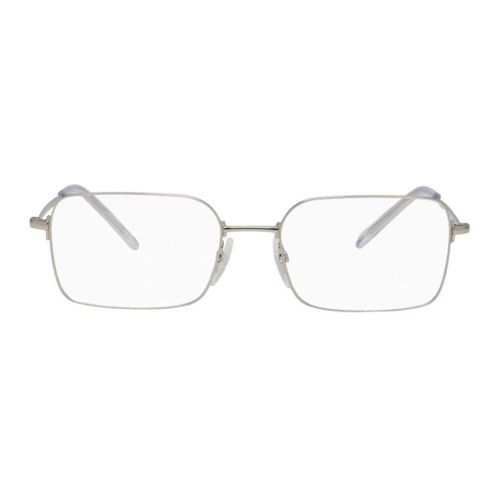 バレンシアガ Balenciaga メンズ メガネ・サングラス【Silver Square Glasses】