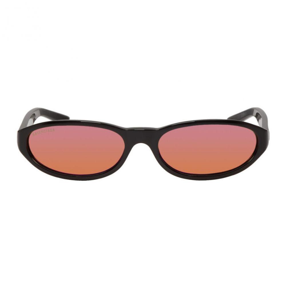 バレンシアガ Balenciaga メンズ メガネ・サングラス【Black & Purple Neo Round Sunglasses】