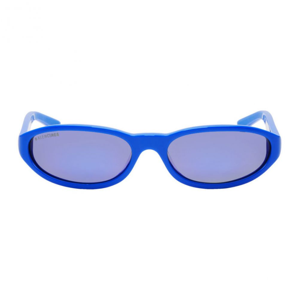 バレンシアガ Balenciaga メンズ メガネ・サングラス【Blue Neo Round Sunglasses】