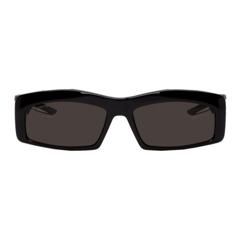 バレンシアガ Balenciaga メンズ メガネ・サングラス【Black Hybrid Rectangle Sunglasses】