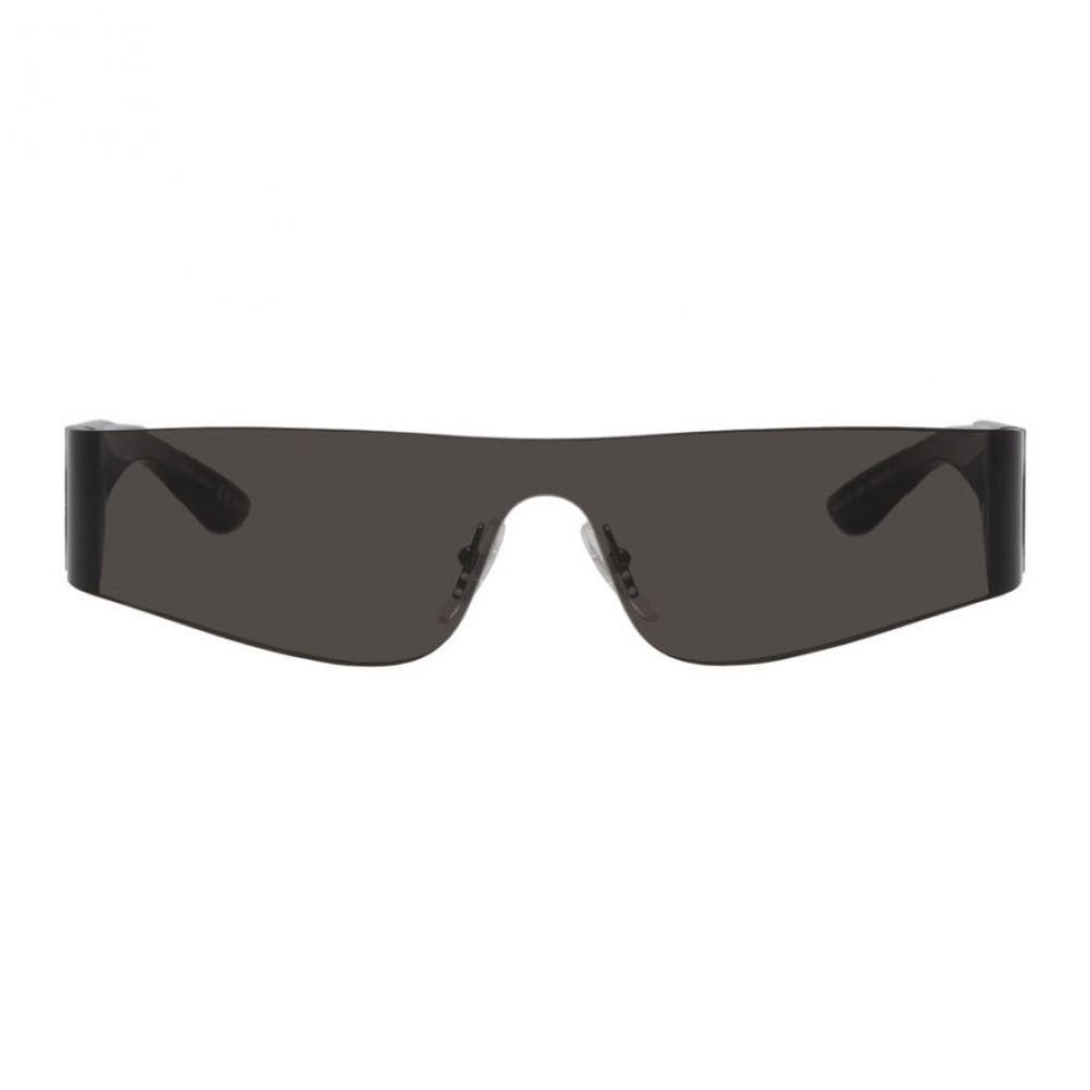 バレンシアガ Balenciaga メンズ メガネ・サングラス【Black Mono Rectangle Sunglasses】