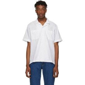 サタデーニューヨーク Saturdays NYC メンズ トップス 半袖シャツ【White Cameron Short Sleeve Shirt】