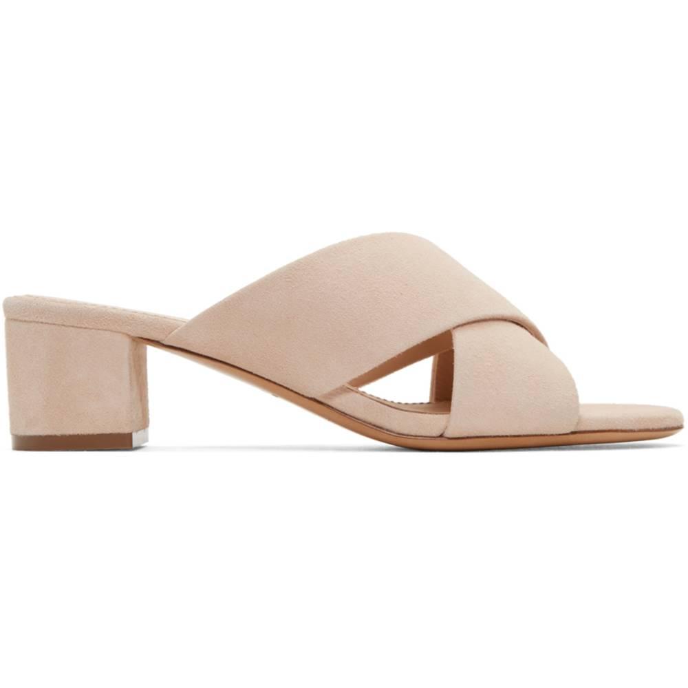 マンサーガブリエル レディース シューズ・靴 サンダル・ミュール【Beige Suede Crossover Sandals】
