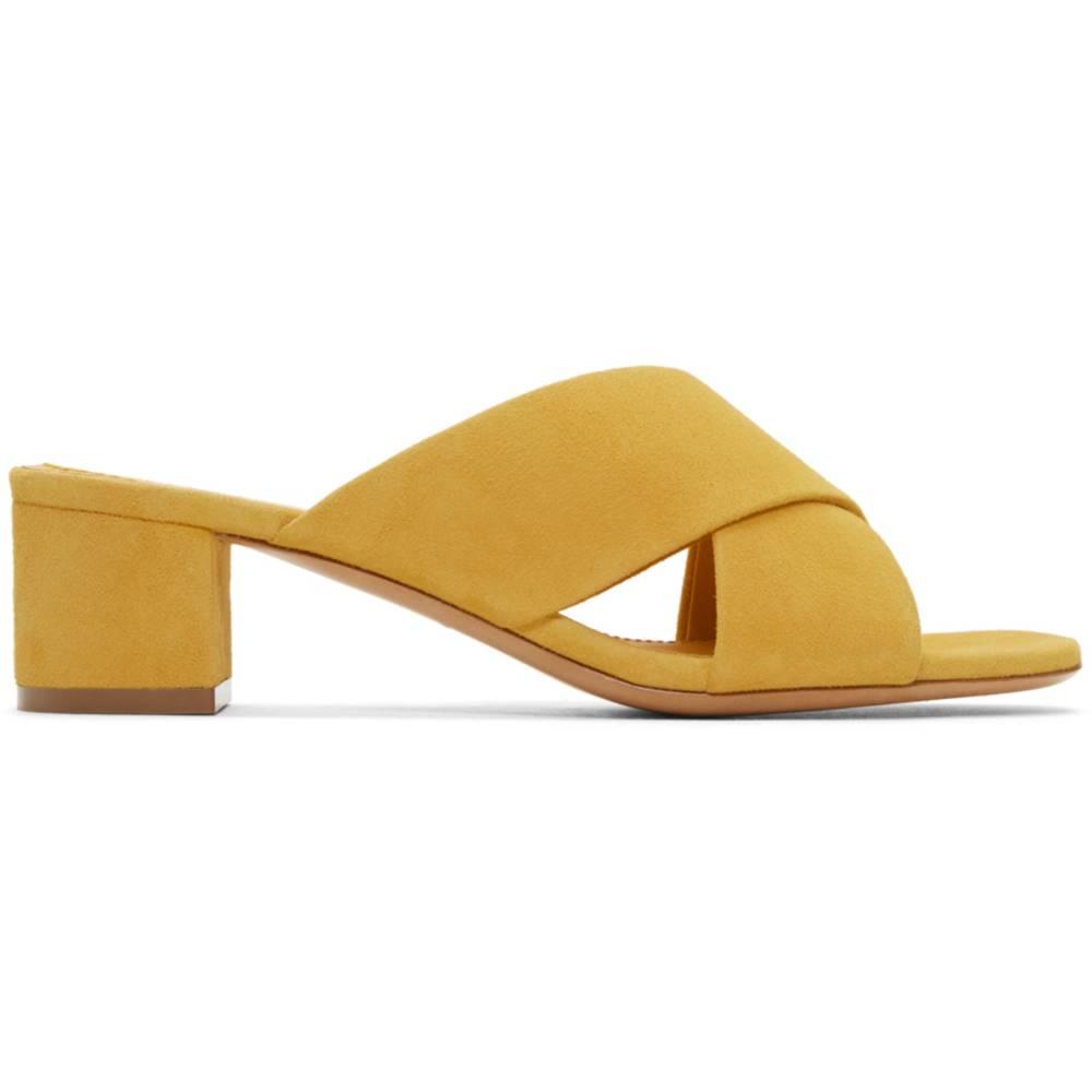 マンサーガブリエル レディース シューズ・靴 サンダル・ミュール【Yellow Suede Crossover Sandals】