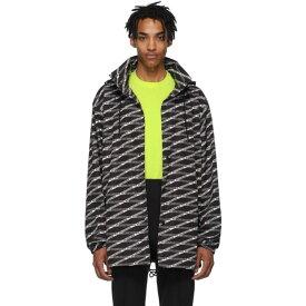 バレンシアガ Balenciaga メンズ アウター レインコート【Black & Grey Monogram Raincoat】