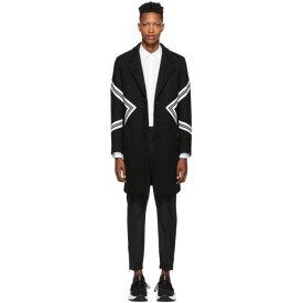 ニール バレット Neil Barrett メンズ アウター コート【Black Single-Breasted Standard Fit Modernist Coat】
