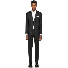ニール バレット Neil Barrett メンズ アウター スーツ・ジャケット【Grey & Black Wool Striped Suit】