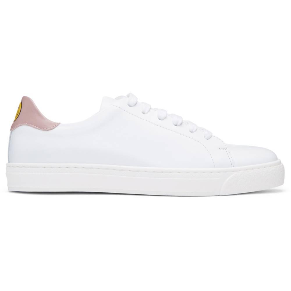 アニヤ ハインドマーチ レディース シューズ・靴 スニーカー【SSENSE Exclusive White & Pink Wink Tennis Sneakers】