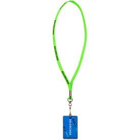 バレンシアガ Balenciaga メンズ ジュエリー・アクセサリー ネックレス【Green 'Gift Card' Badge Necklace】