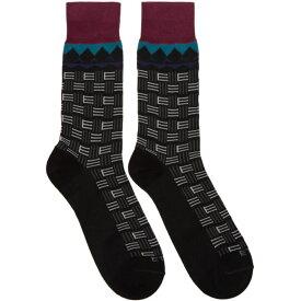 エトロ Etro メンズ インナー・下着 ソックス【Black Short Socks】Black