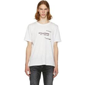 イヴ サンローラン Saint Laurent メンズ トップス Tシャツ【White 'Sorry For What I Said' T-Shirt】