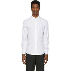 ニール バレット Neil Barrett メンズ トップス シャツ【White Nickel Pierced Shirt】