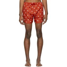 ニール バレット Neil Barrett メンズ 水着・ビーチウェア 海パン【Red & White Pattern Swim Shorts】