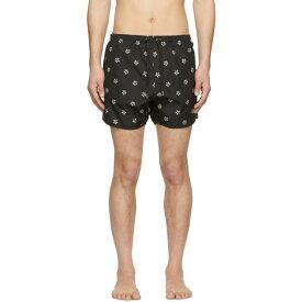 ニール バレット Neil Barrett メンズ 水着・ビーチウェア 海パン【Black Pattern Swim Shorts】