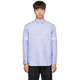 コム デ ギャルソン Comme des Garcons Shirt メンズ トップス シャツ【White & Blue Stripe Zip-On Sleeves Shirt】Stripe