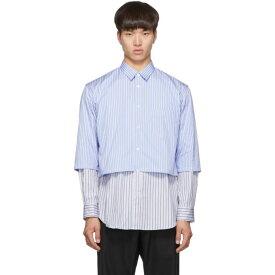 コム デ ギャルソン Comme des Garcons Shirt メンズ トップス シャツ【Blue & White Striped Layered Shirt】Stripe mix
