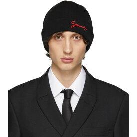 ジバンシー Givenchy メンズ 帽子 ニット【Black Wool Beanie】Black/Red