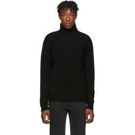 ラフ シモンズ Raf Simons メンズ トップス【Black Virgin Wool Double Strap Turtleneck】Black