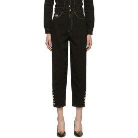 ヴェルサーチ Versace Jeans Couture レディース ボトムス・パンツ ジーンズ・デニム【Black Mom Jeans】Black