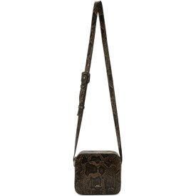 アーペーセー A.P.C. レディース バッグ【Brown Snake Louisette Bag】Dark chestnut brown