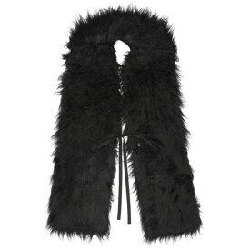 メゾン マルジェラ MM6 Maison Margiela レディース マフラー・スカーフ・ストール【Black Hairy Scarf】Black